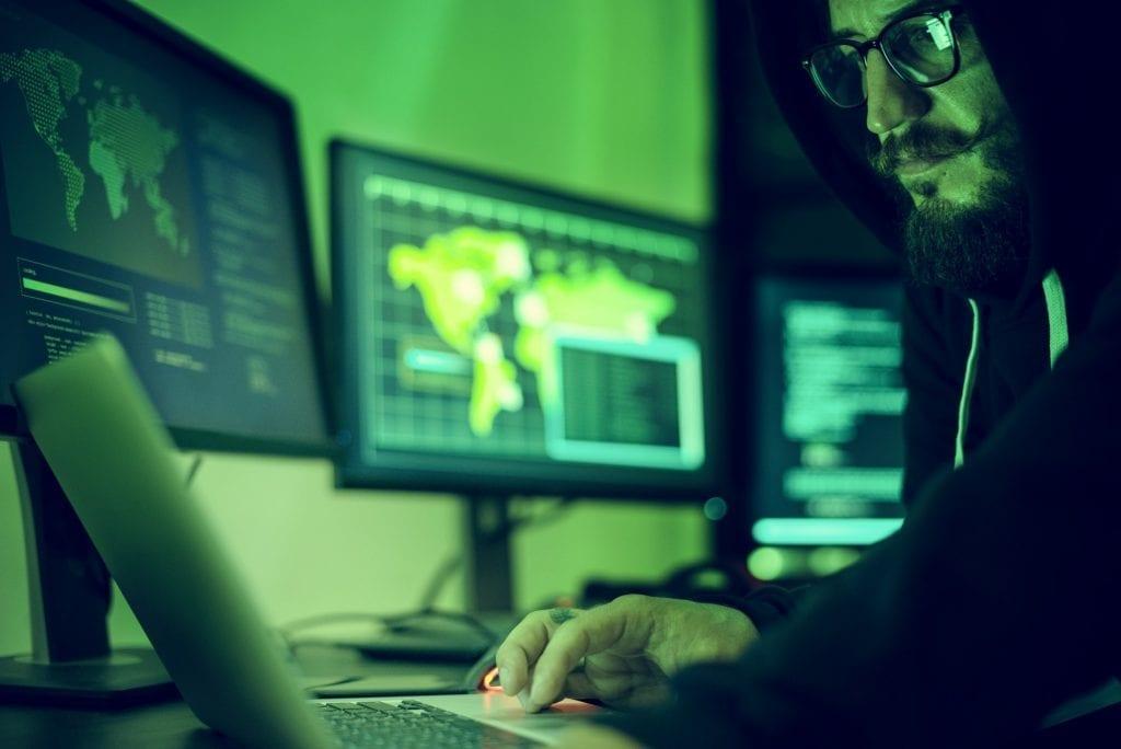 Hacker hacking data information